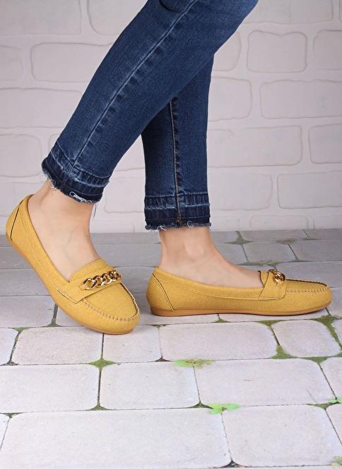 İnce Topuk Ayakkabı Hardal